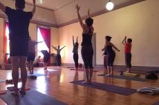 yoga at sadhana studio in hudson, ny