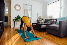 Yoga practitioner at home